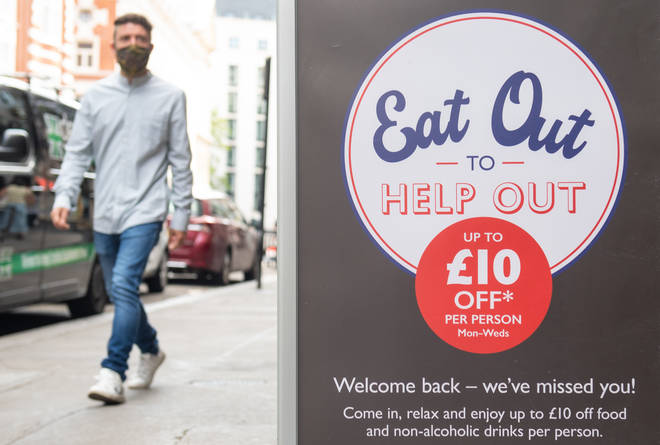 Eat Out To Help Out gives diners 50 per cent off their meals