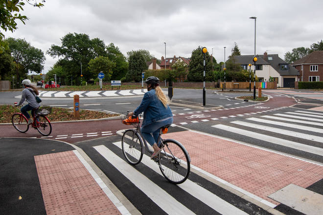 Local cyclists have been trying the new roundabout out over the past week