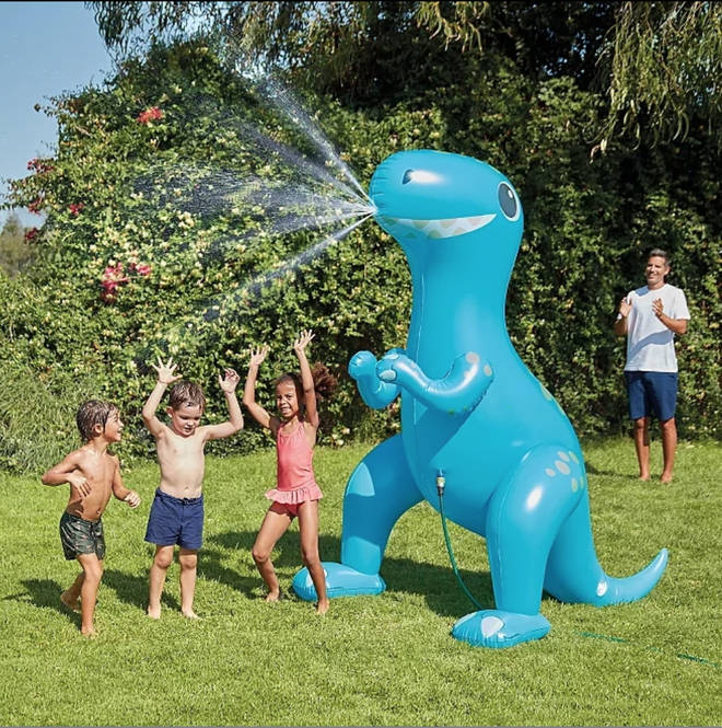 The dinosaur is just perfect for the heatwave