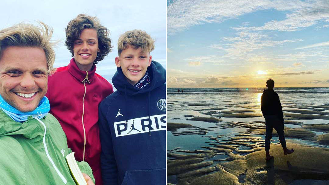 Jeff Brazier dedicates emotional post to sons who were brought to tears by camping holiday