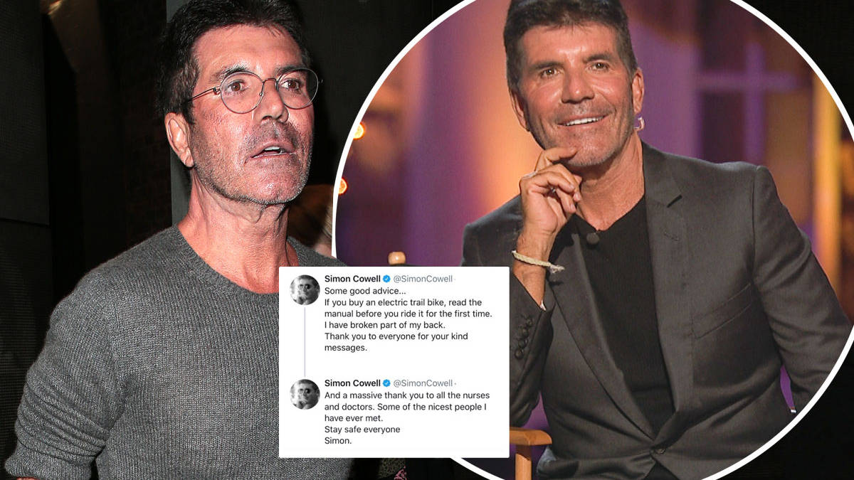 Simon Cowell rushed to hospital to 'stabilise his spine' after breaking back in three places