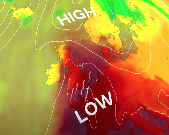 The UK will be hit by thunderstorms this week following a heatwave