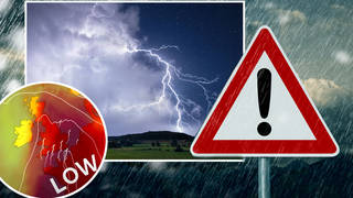 The UK is set to be hit by thunderstorms following temperatures reaching 35 degrees over the weekend.