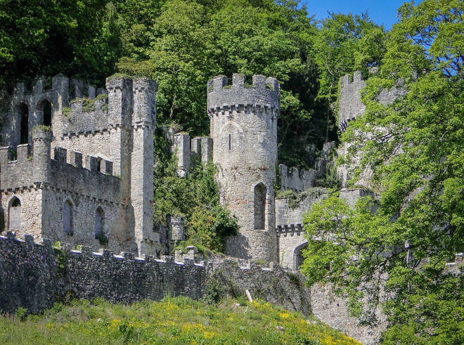 Gwrych Castle is said to be haunted by a ghostly figure...
