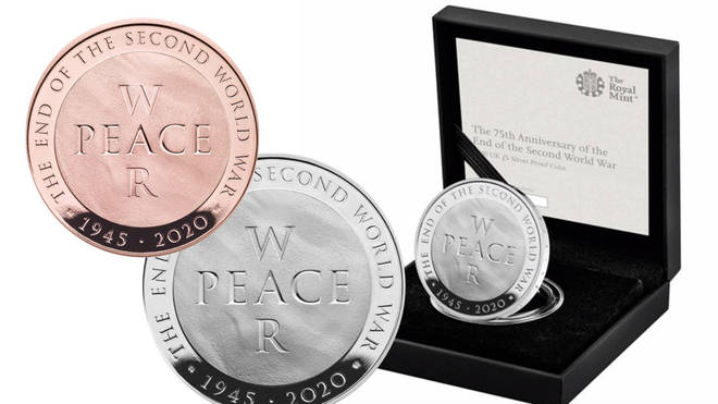 The new Royal Mint coin marks 75 years since the end of World War II