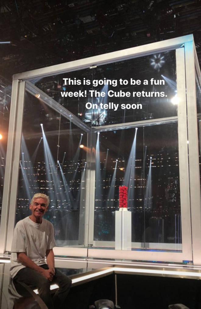 Phillip Schofield looked ecstatic to return to The Cube