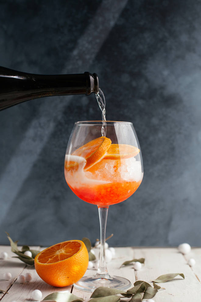 An Aperol Spritz is fun to make at home