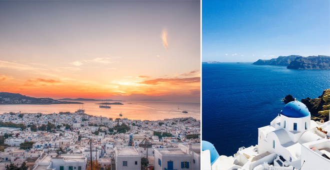 A curfew has been introduced in some Greek tourist hotspots (stock images)
