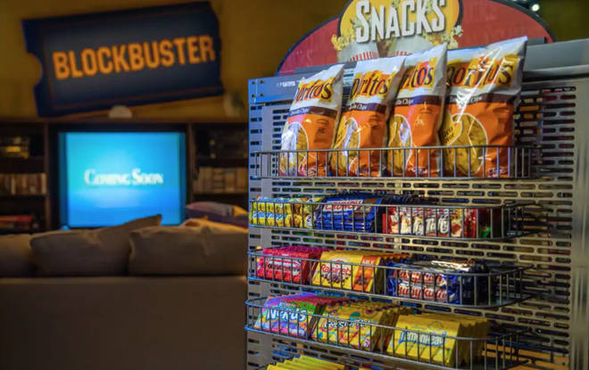 Visitors will be able to help themselves to retro snacks