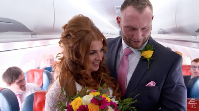 Adam and Bianca got married on a plane and had a beach-themed reception
