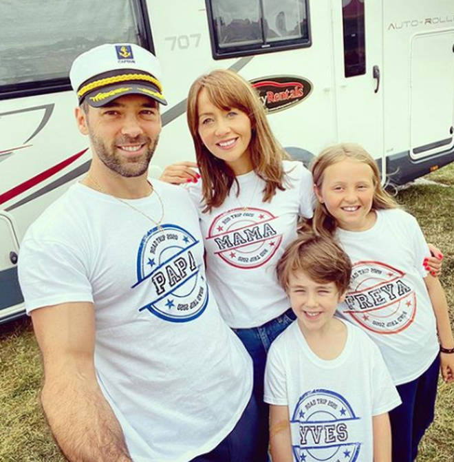 Samia Longchambon and her family