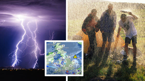 UK issued storm warning for next five days as two months of rain could fall in just four hours
