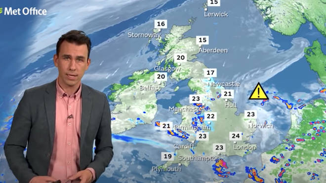 The Met Office has issued a storm warning across the UK for the next five days