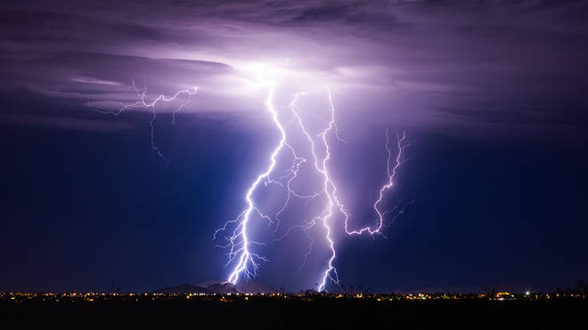 Thunderstorms will travel across the UK over the next few days
