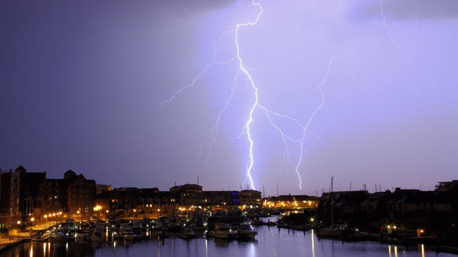 Thunderstorms will be making their way across the UK for the next five days