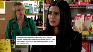 Coronation Street viewers spotted characters weren't wearing masks