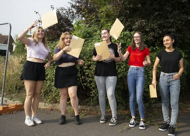 A-Level results were released today