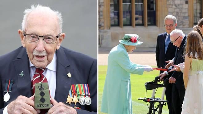 Captain Tom Moore raised money for the NHS during lockdown