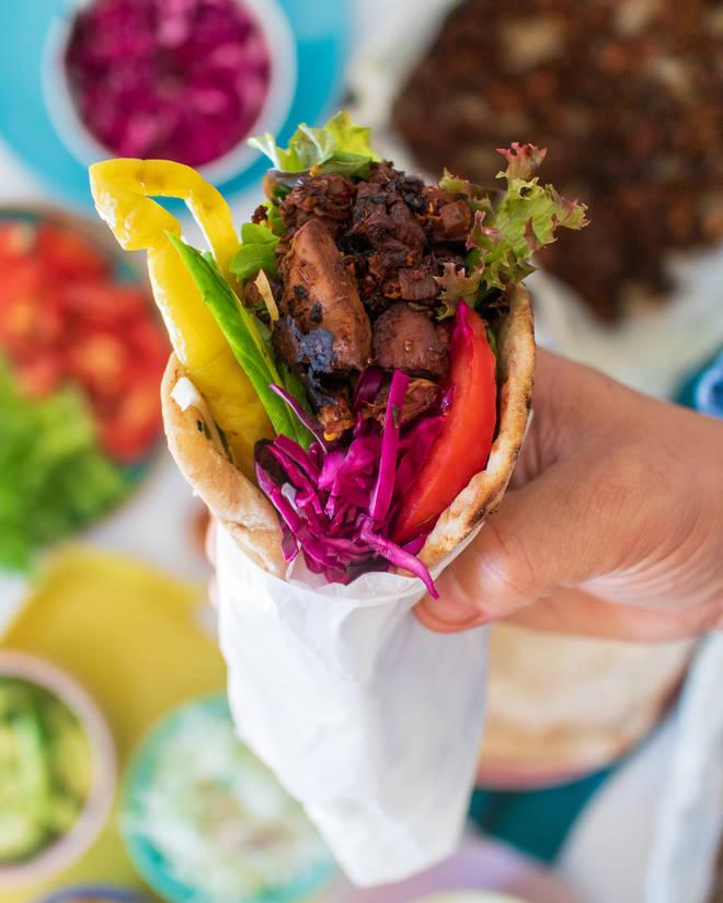 Jackfruit kebab