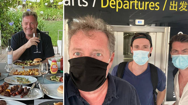 Piers Morgan and his sons returned to the UK just before the new quarantine rules come into place