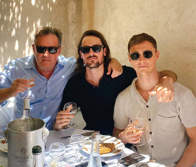 Piers Morgan has been in St Tropez since July with his family