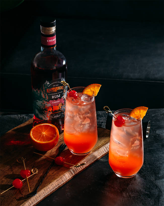 This rum punch has a very fruity taste