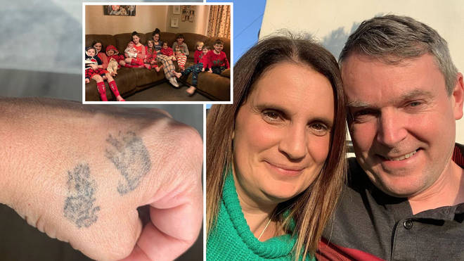 Sue Radford revealed her tattoo in memory of her son Alfie