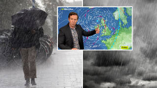 """Low pressure coming over the Atlantic will bring with it the """"remnants"""" of Storm Kyle"""