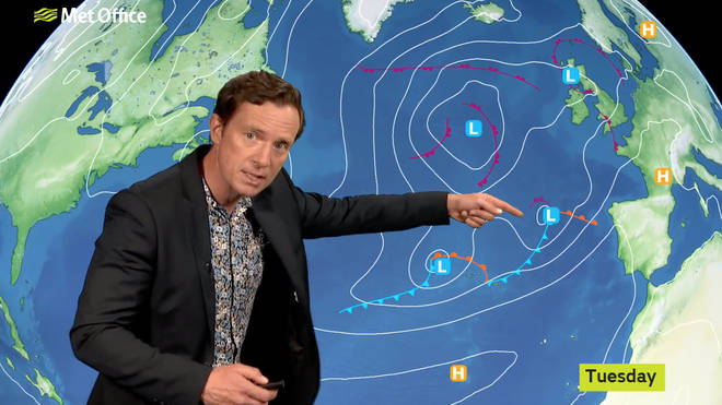 The low pressure will also bring in some tropical air