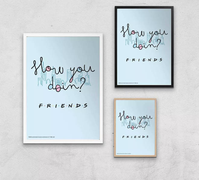 Fancy decorating your walls with Friends-themed art?