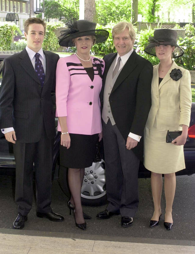 William Roache with his late wife Sara and children William Jnr and Verity