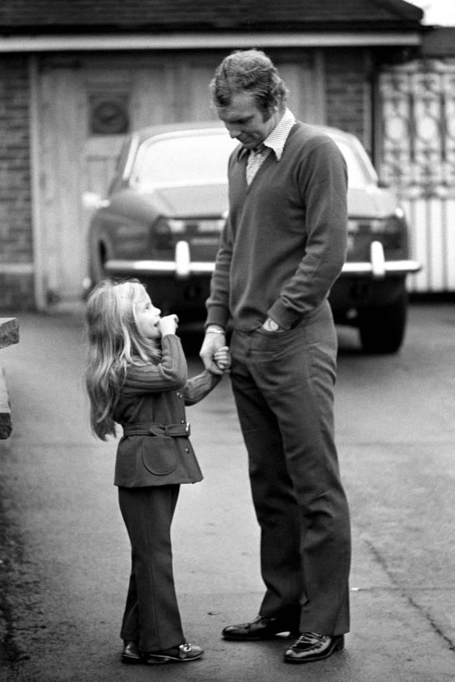 Bobby Moore and his daughter Roberta
