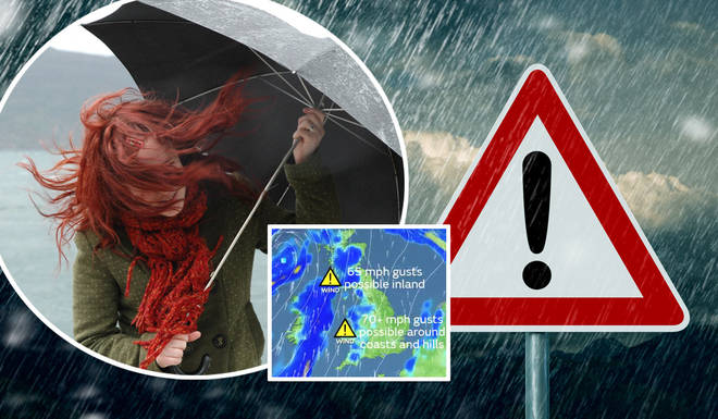 The Met Office named Storm Ellen this week as wet and windy weather is expected
