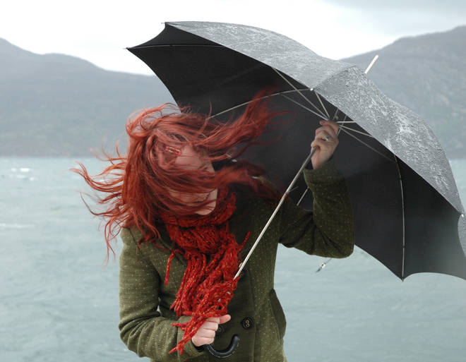 Northern Ireland should expect to see gusts of 65mph, while Wales and the west of England could see up to 70mph wind gusts
