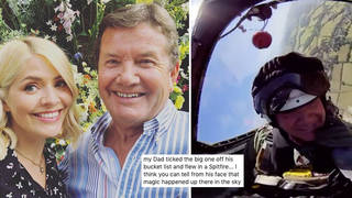 Holly Willoughby has shared a video of her dad