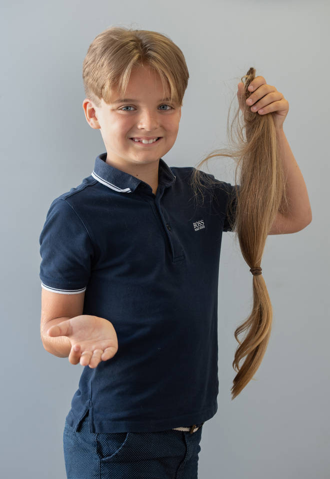 Reilly Stancombe, 9, says he loves his new hair