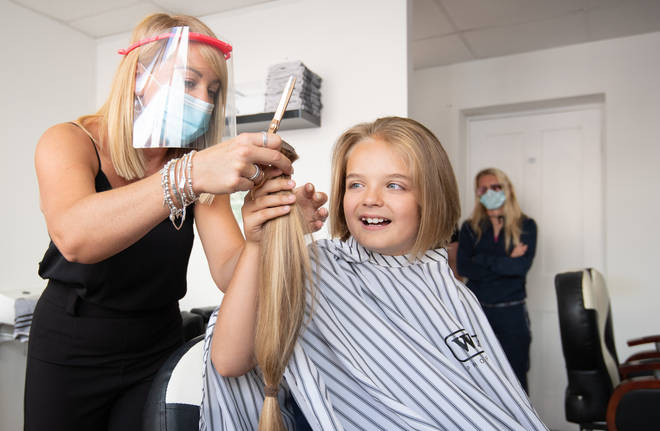 Reilly raised a massive £3,300 for the Little Princess Trust as well as donating his hair