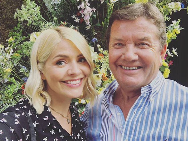 Holly Willoughby and her dad Brian