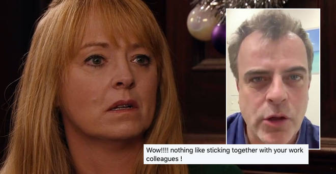 Coronation Street's Sally Ann Matthews and Simon Gregson have clashed