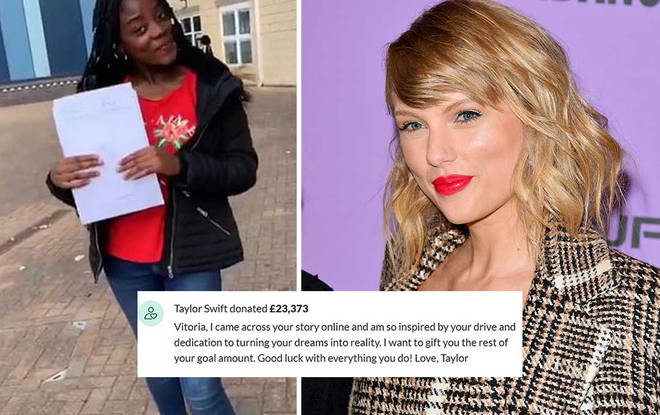 The star made a generous contribution to the 18-year-old's GoFundMe