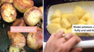 A woman has revealed how to make the perfect roast potatoes