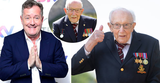 Captain Tom Moore will reportedly appear on Piers Morgan's Life Stories