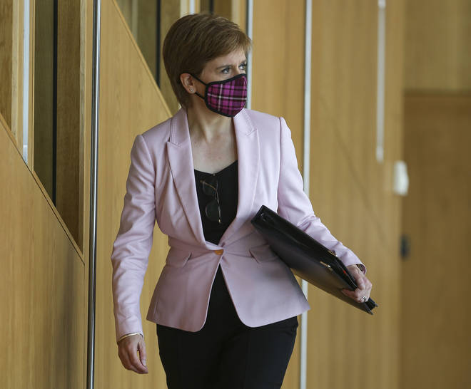 Nicola Sturgeon has confirmed there are no plans to ask pupils to wear them in classrooms