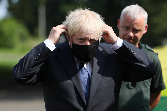 Boris Johnson's government has changed face mask rules