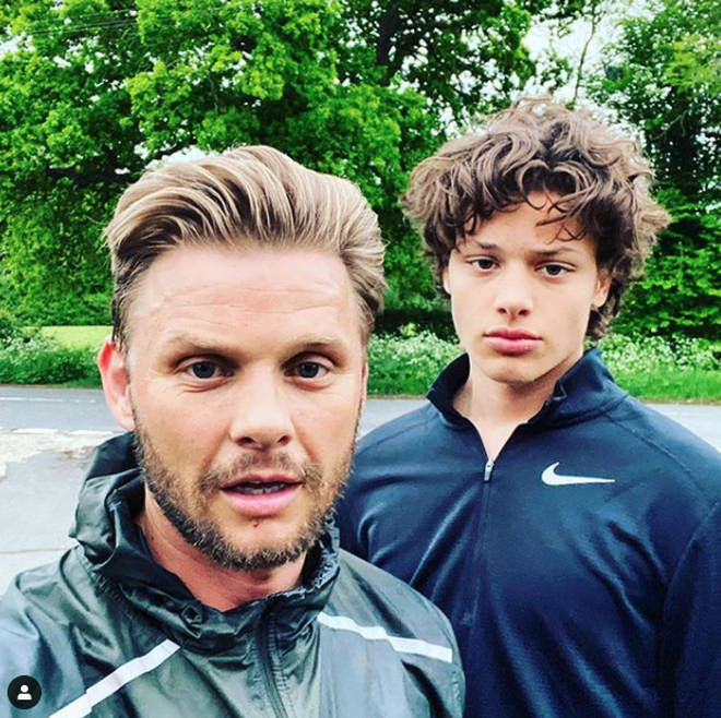 Jeff Brazier and his son Bobby
