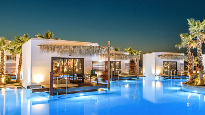 Situated on Crete's northern coast, the resort also boasts five restaurants and a spa
