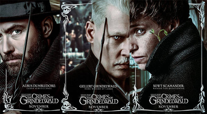 The posters for the new film showing the actors in their wizard characters