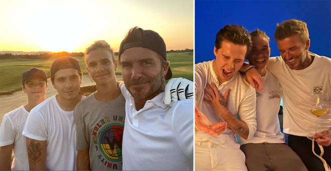 David Beckham shared an adorable tribute to his sons