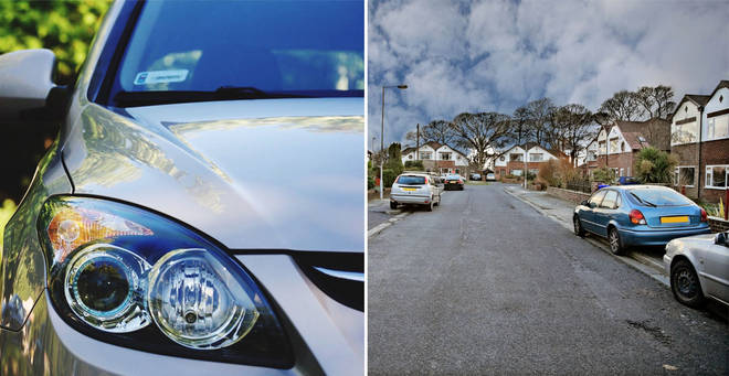 Car parking on pavements could be banned under new proposals (stock images)
