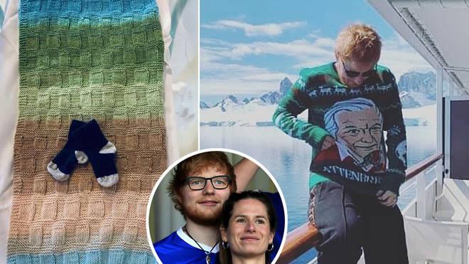 Ed Sheeran was pictured in Antarctica last December